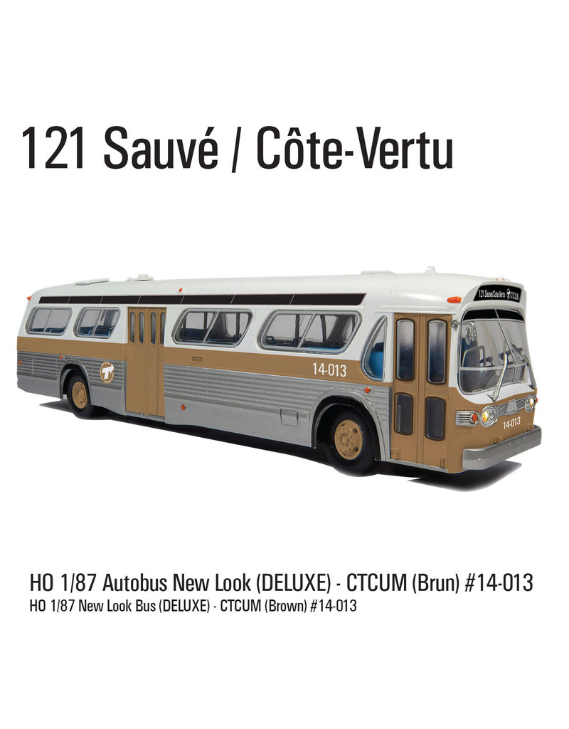 C.T.C.U.M. New Look brown Bus - Deluxe edition - 1/87 scale - #14-013