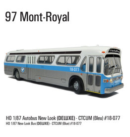 C.T.C.U.M. New Look blue Bus - Deluxe edition - 1/87 scale - #18-077