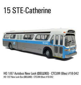 C.T.C.U.M. New Look blue Bus - Deluxe edition - 1/87 scale - #18-042