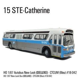MODÈLE ÉCHELLE 1/87 - Autobus New Look bleu C.T.C.U.M.  Édition Deluxe #18-042