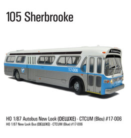 C.T.C.U.M. New Look blue Bus - Deluxe edition - 1/87 scale - #17-006