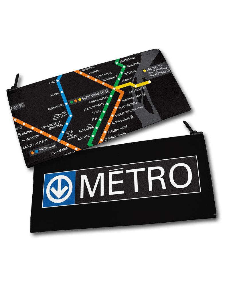 Étui à crayons - plan du métro / Logo