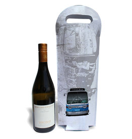 Wine tote - New Look blue bus