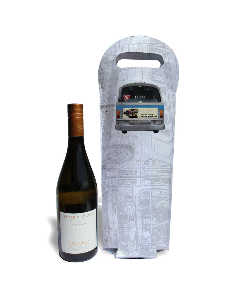 Wine tote - New Look blue bus