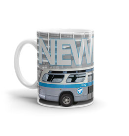 Cup - New Look blue bus profile  11oz