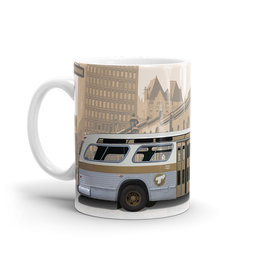 TASSE 11oz - Autobus New Look brun profile