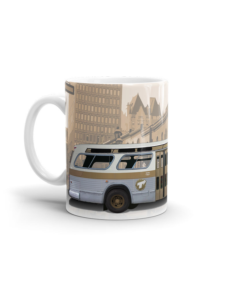 Cup - New Look brown bus 11oz
