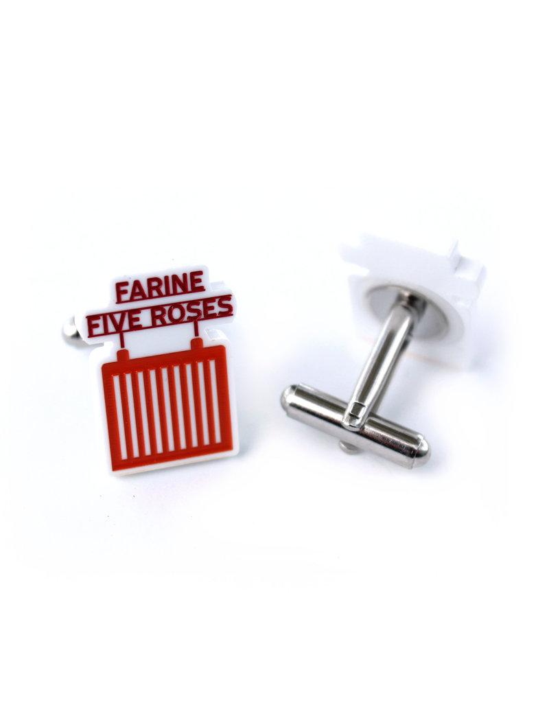 "Boutons de manchettes - ""Farine Five Roses"""