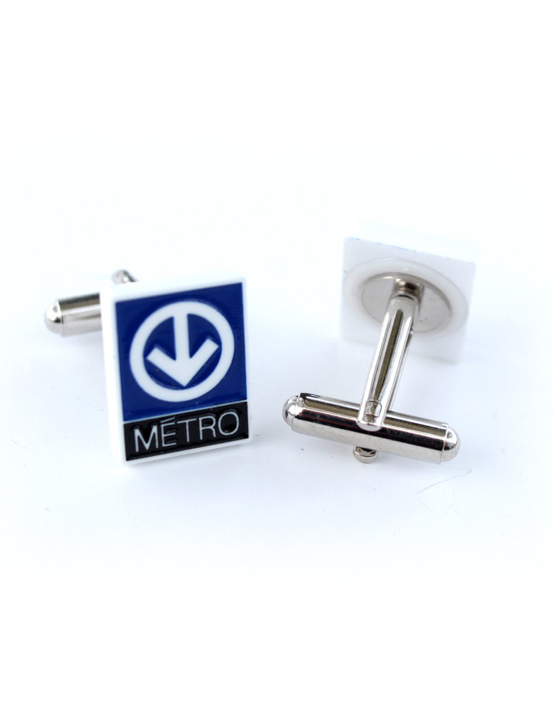 Boutons de manchettes - Logo métro