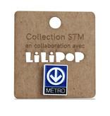 Pin - Metro logo