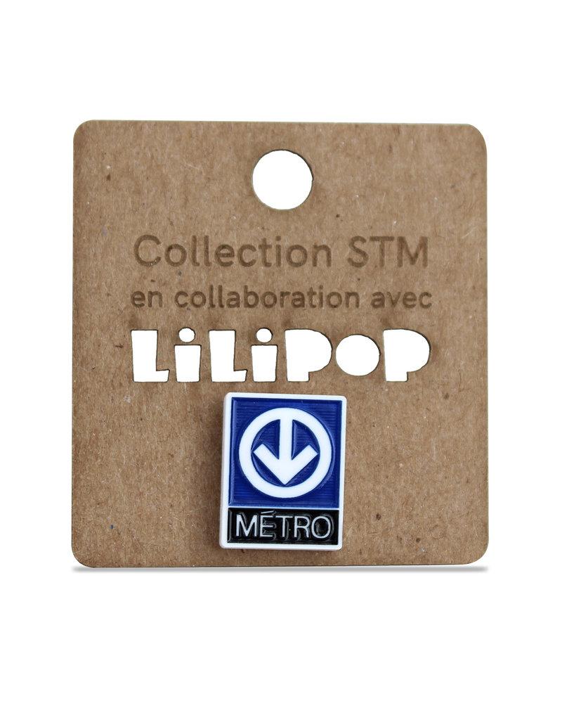 Épinglette - Logo métro