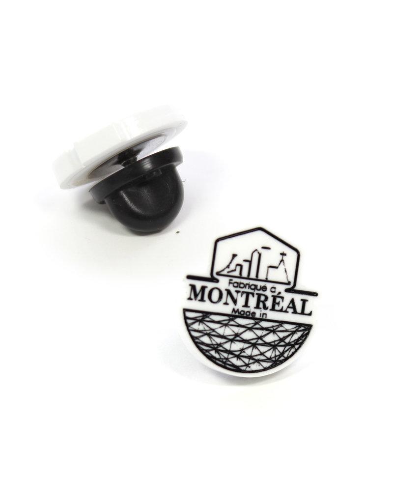 """Épinglette - Logo """"Fabriqué à Montréal"""""""