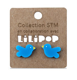 Boucles d'oreilles - oiseaux bleu