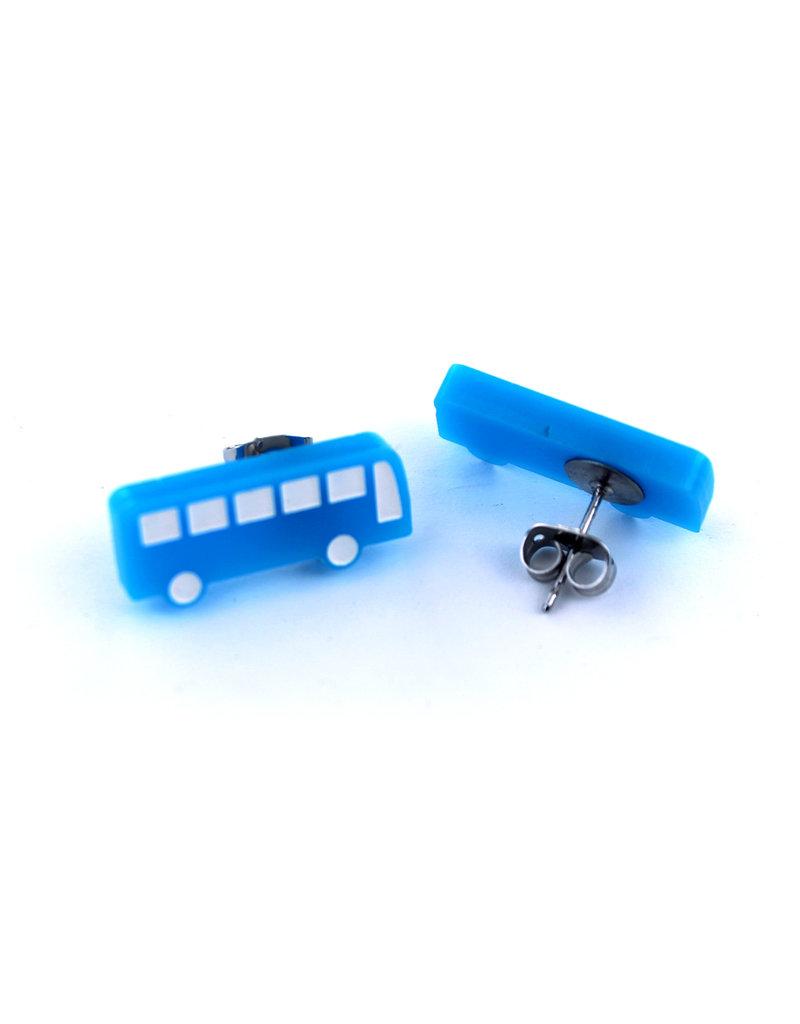 Earrings -  Blue STM bus