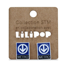 Earrings -  Metro logo
