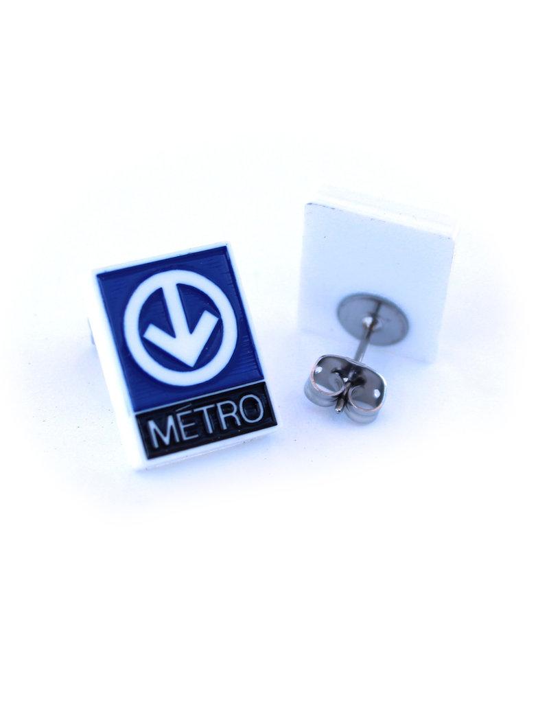 Earrings -  Metro logo