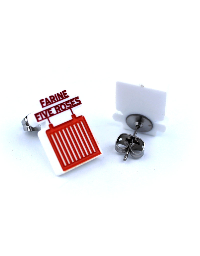"Earrings -  ""Farine Five Roses"""
