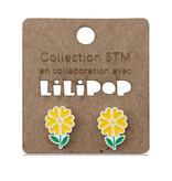 Earrings -  Yellow flowers