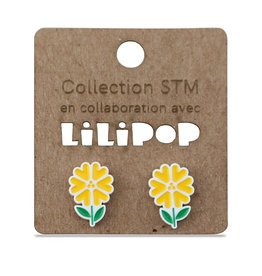 Earrings -  Yellow flowers