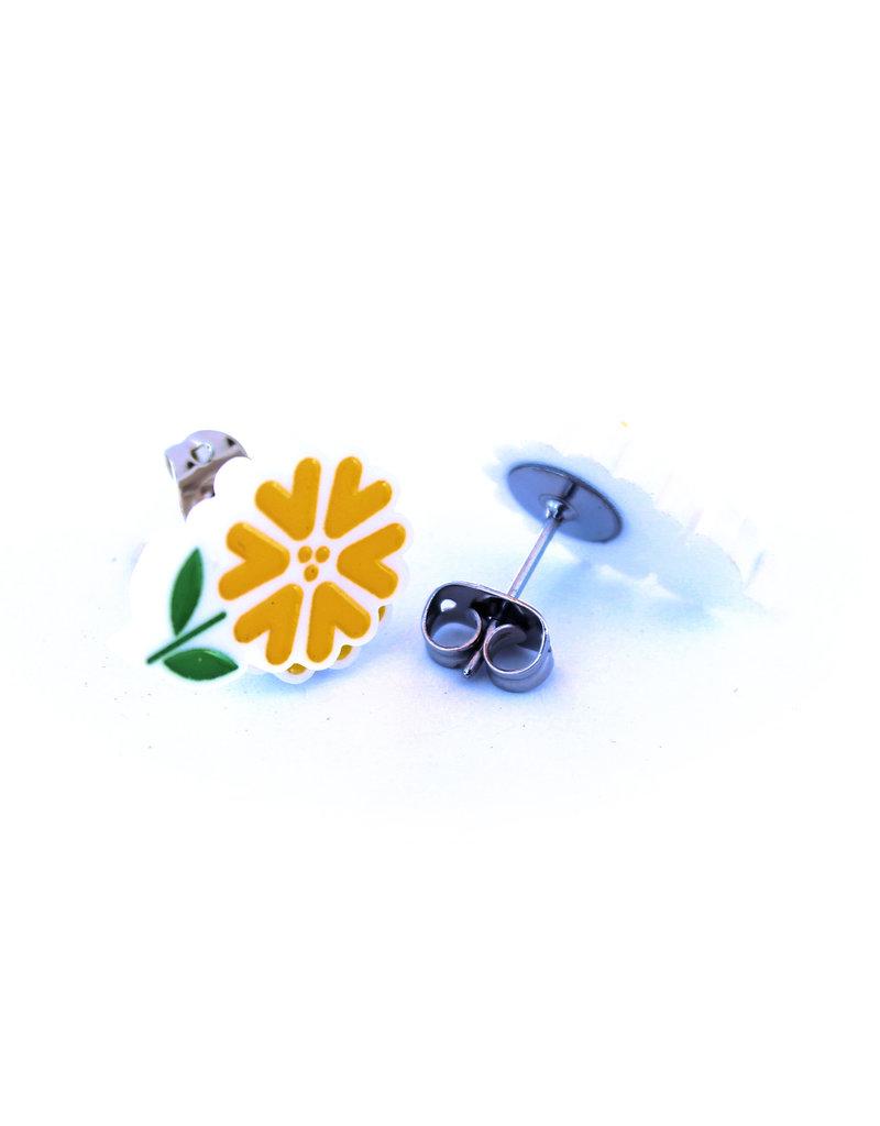 Boucles d'oreilles - Fleurs jaune