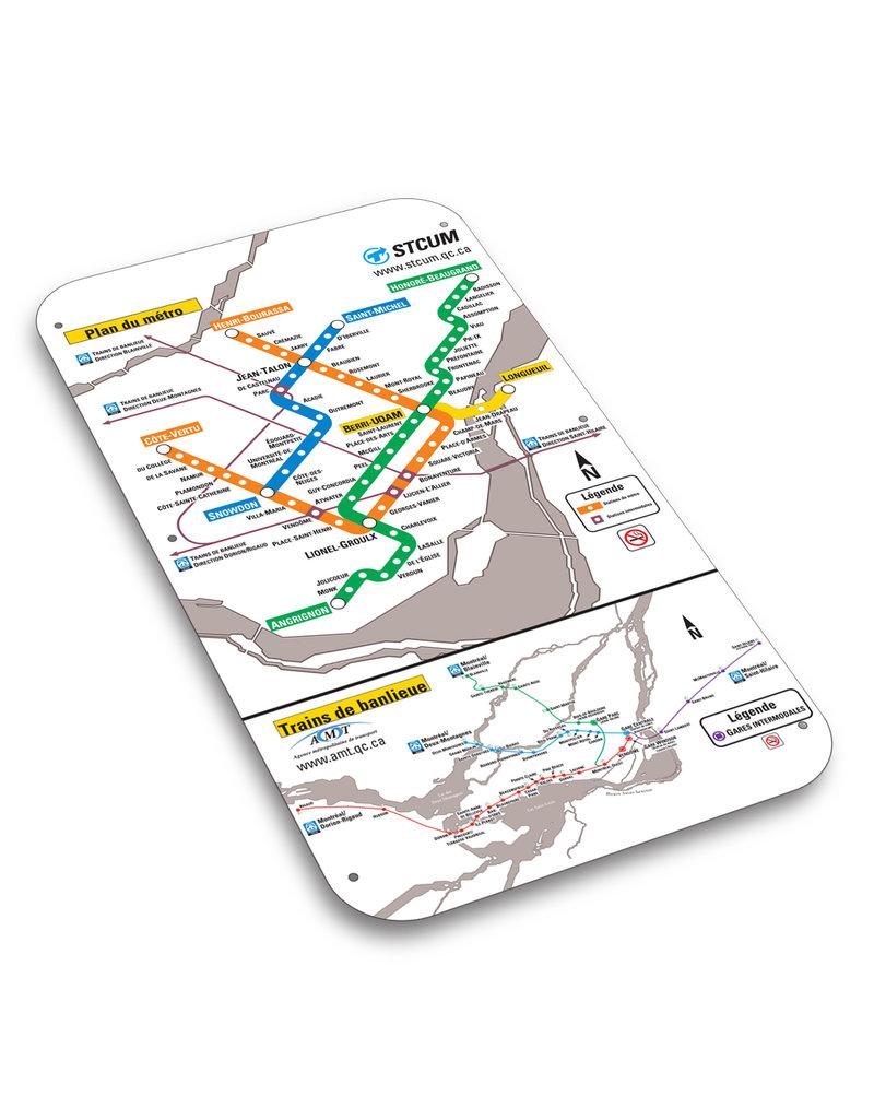 Affiche officielle du plan du métro de Montréal – Version 2001