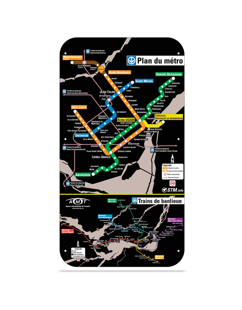 Official Montreal Metro map - 2004 version