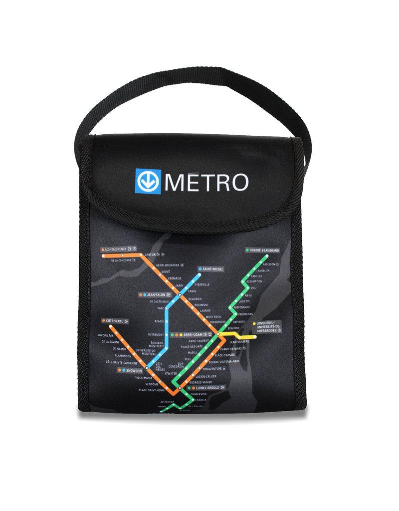SAC À LUNCH - Plan du métro / j'V mtl