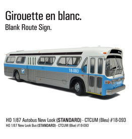 C.T.C.U.M. New Look blue Bus - Standard edition - 1/87 scale - #18-093