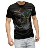 T-shirt - Plan du métro noir