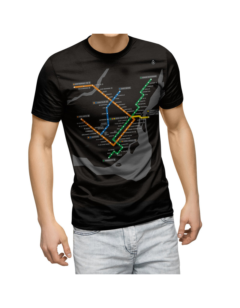 Metro map t-shirt