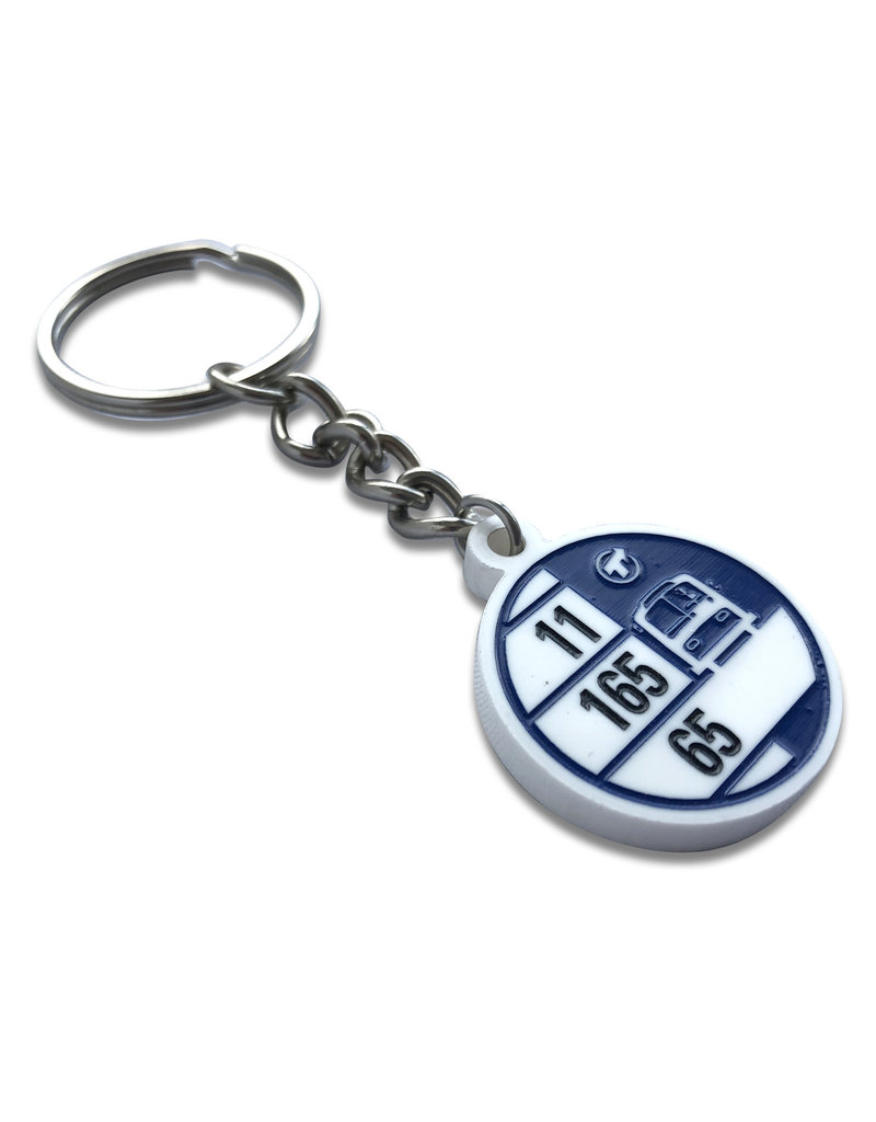 Keychain - Bus stop 70/80's