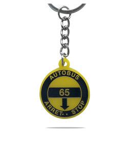 Porte clés - Arrêt d'autobus 65