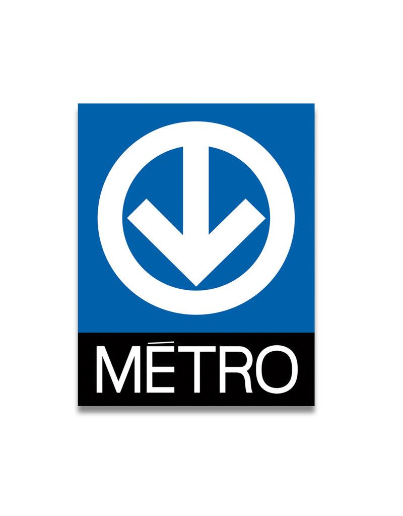 Acrylic frame - Metro logo