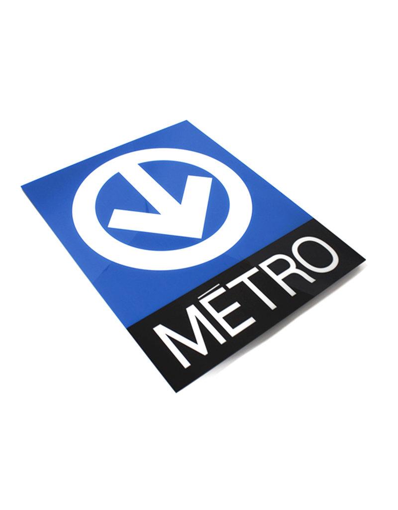 Cadre en acrylique - Logo du métro