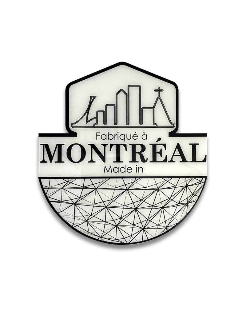 Acrylic frame - Made in Montreal logo