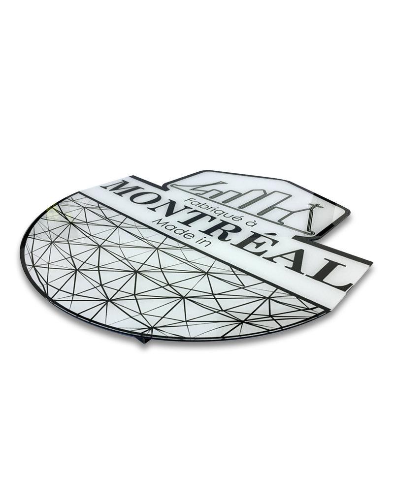 Cadre en acrylique - Logo Fabriqué à Montréal