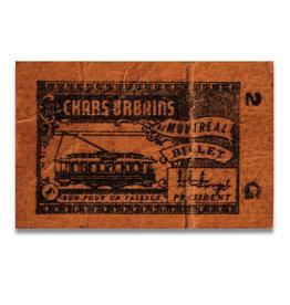 CADRES EN ACRYLIQUE - Ancien billet des Chars urbains