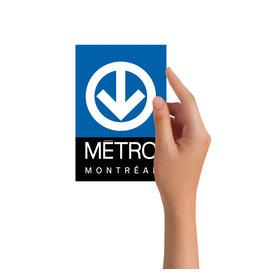 Carte postale - Logo du métro