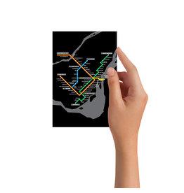 Post card - Metro map