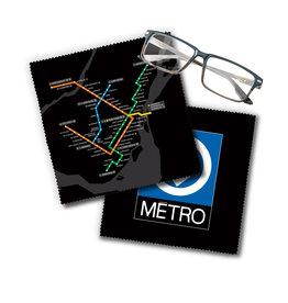 Lingette de lunettes - Plan du métro