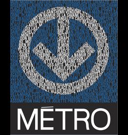AFFICHE - LOGO DU MÉTRO + STATIONS