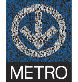 METRO LOGO WITH STATIONS - POSTER