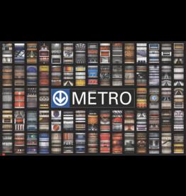"""AFFICHE - STATIONS DE MÉTRO (68 Stations) 50.25"""" x 30.83"""""""