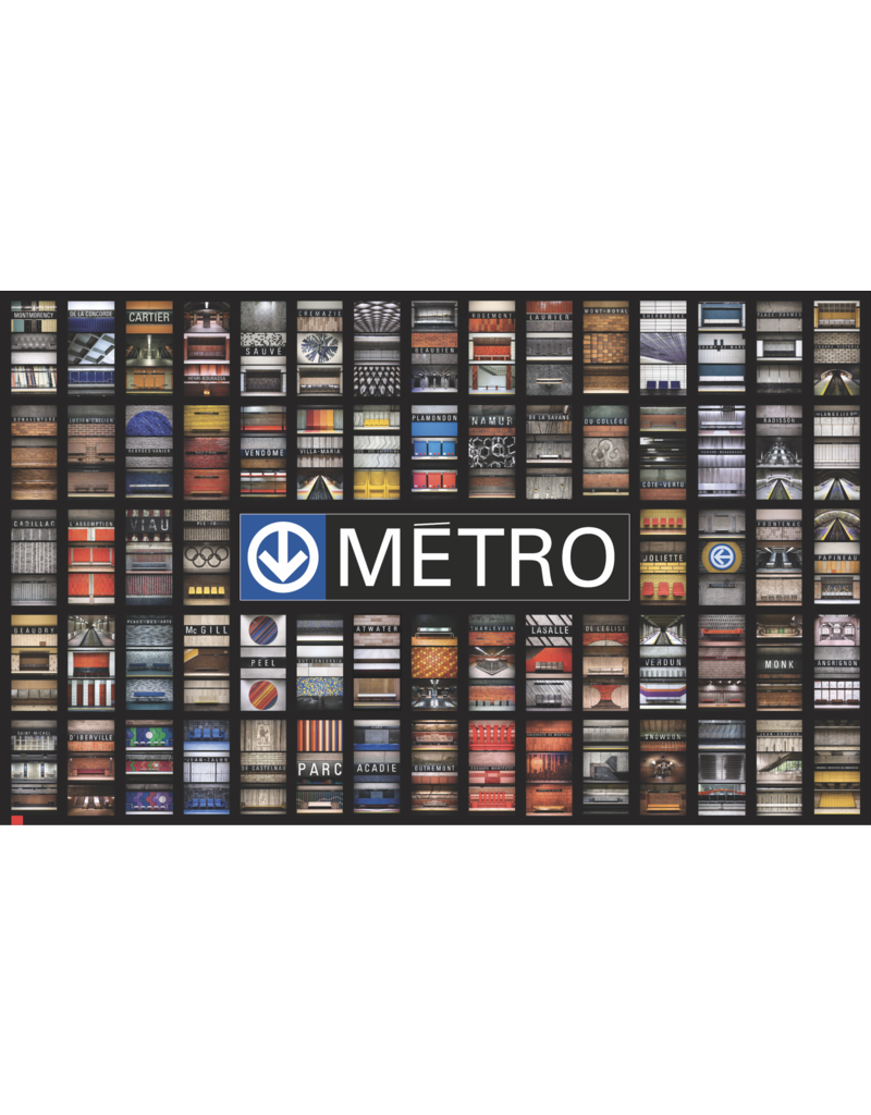 """POSTER - 68 METRO STATIONS (50.25"""" x 30.83"""")"""