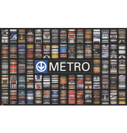 "POSTER - 68 METRO STATIONS (18.41"" x 30"")"
