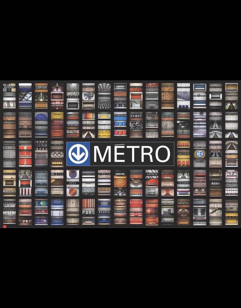 """AFFICHE - STATIONS DE MÉTRO (68 Stations) 18.41"""" x 30"""""""