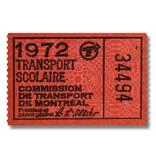 CADRE EN ACRYLIQUE -  Transport scolaire 1972