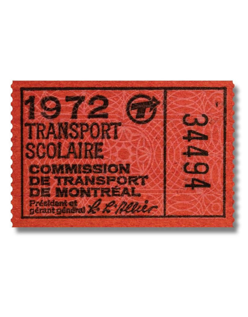 ACRYLIC FRAME - Transport Scolaire 1972