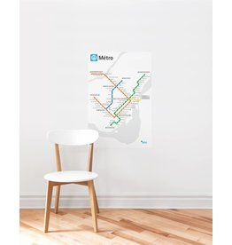 METRO MAP DECAL - White Métro map