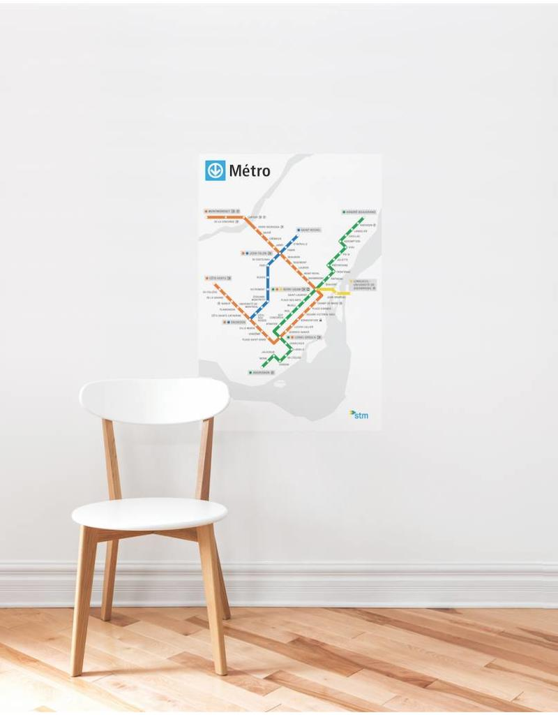 METRO MAP DECAL - White Métro map